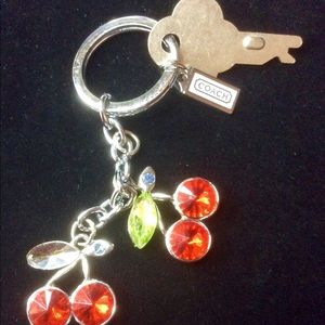 Coach cherry keychain